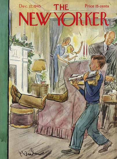 Perry Barlow The New Yorker 1945_12_22 Copyright | The New Yorker Graphic Art Covers 1925-1945