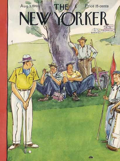 Perry Barlow The New Yorker 1946_08_03 Copyright | The New Yorker Graphic Art Covers 1946-1970