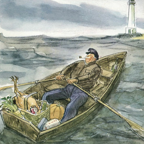 Perry Barlow The New Yorker 1946_11_30 Copyright crop | Best of Vintage Cover Art 1900-1970