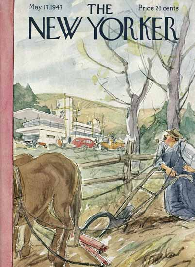 Perry Barlow The New Yorker 1947_05_17 Copyright | The New Yorker Graphic Art Covers 1946-1970
