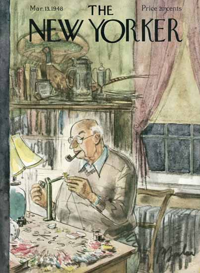 Perry Barlow The New Yorker 1948_03_13 Copyright | The New Yorker Graphic Art Covers 1946-1970
