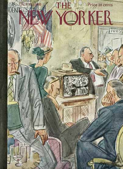 Perry Barlow The New Yorker 1948_10_30 Copyright | The New Yorker Graphic Art Covers 1946-1970