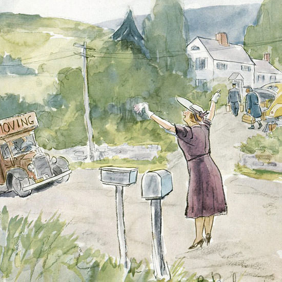 Perry Barlow The New Yorker 1949_06_04 Copyright crop   Best of Vintage Cover Art 1900-1970