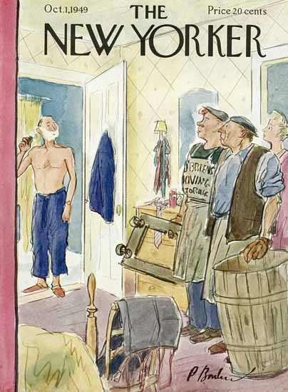 Perry Barlow The New Yorker 1949_10_01 Copyright | The New Yorker Graphic Art Covers 1946-1970