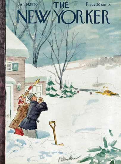 Perry Barlow The New Yorker 1950_01_14 Copyright | The New Yorker Graphic Art Covers 1946-1970