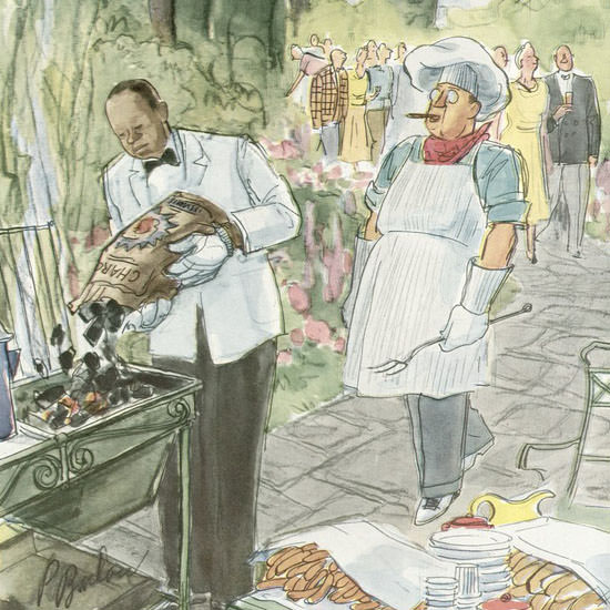Perry Barlow The New Yorker 1950_09_16 Copyright crop | Best of Vintage Cover Art 1900-1970