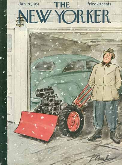 Perry Barlow The New Yorker 1951_01_20 Copyright | The New Yorker Graphic Art Covers 1946-1970