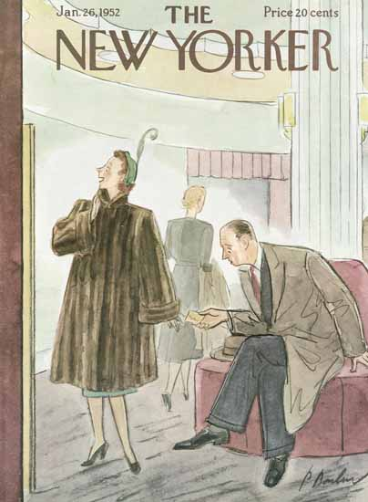 Perry Barlow The New Yorker 1952_01_26 Copyright | The New Yorker Graphic Art Covers 1946-1970