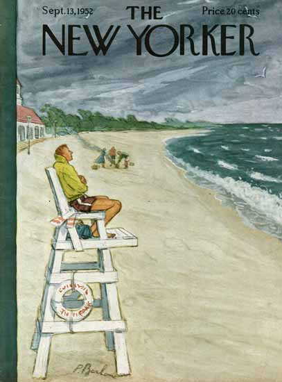 Perry Barlow The New Yorker 1952_09_13 Copyright | The New Yorker Graphic Art Covers 1946-1970