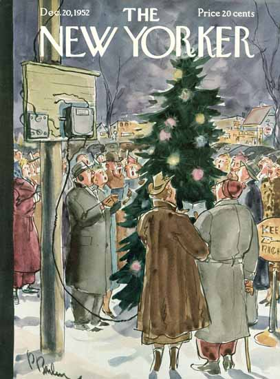 Perry Barlow The New Yorker 1952_12_20 Copyright | The New Yorker Graphic Art Covers 1946-1970