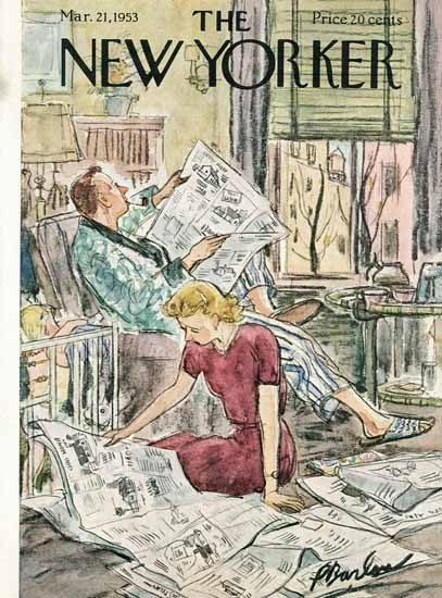 Perry Barlow The New Yorker 1953_03_21 Copyright | The New Yorker Graphic Art Covers 1946-1970