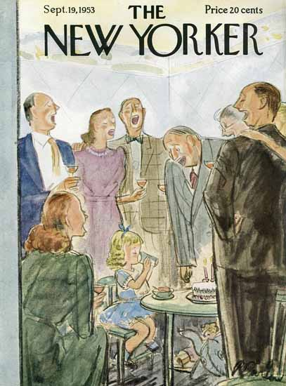 Perry Barlow The New Yorker 1953_09_19 Copyright | The New Yorker Graphic Art Covers 1946-1970