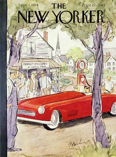Perry Barlow The New Yorker 1954_09_04 Copyright | The New Yorker Graphic Art Covers 1946-1970