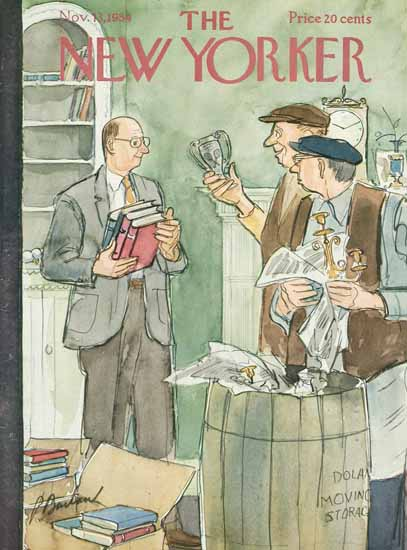 Perry Barlow The New Yorker 1954_11_13 Copyright | The New Yorker Graphic Art Covers 1946-1970