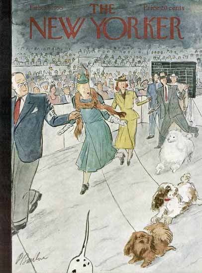 Perry Barlow The New Yorker 1955_02_12 Copyright | The New Yorker Graphic Art Covers 1946-1970