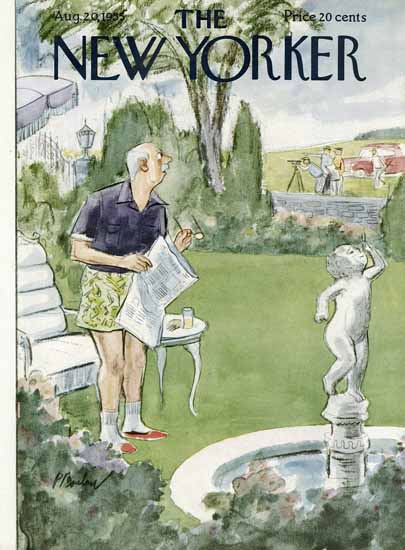 Perry Barlow The New Yorker 1955_08_20 Copyright | The New Yorker Graphic Art Covers 1946-1970