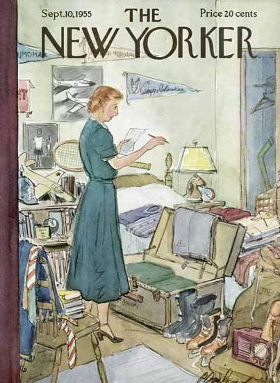 Perry Barlow The New Yorker 1955_09_10 Copyright | The New Yorker Graphic Art Covers 1946-1970