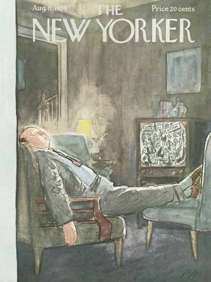 Perry Barlow The New Yorker 1956_08_11 Copyright   The New Yorker Graphic Art Covers 1946-1970