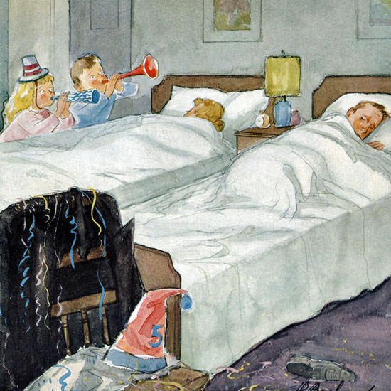 Perry Barlow The New Yorker 1956_12_29 Copyright crop | Best of Vintage Cover Art 1900-1970