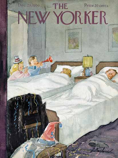 Perry Barlow The New Yorker 1956_12_29 Copyright | The New Yorker Graphic Art Covers 1946-1970
