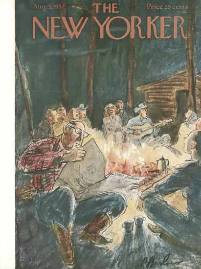 Perry Barlow The New Yorker 1957_08_03 Copyright | The New Yorker Graphic Art Covers 1946-1970
