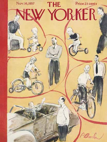 Perry Barlow The New Yorker 1957_11_16 Copyright | The New Yorker Graphic Art Covers 1946-1970
