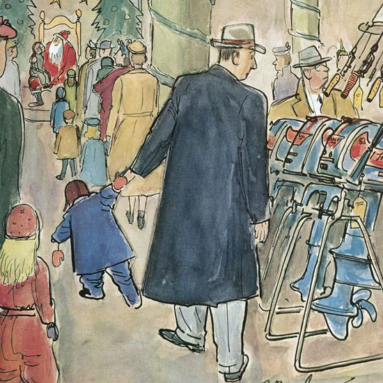 Perry Barlow The New Yorker 1957_12_07 Copyright crop | Best of Vintage Cover Art 1900-1970