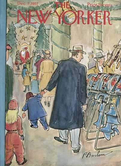 Perry Barlow The New Yorker 1957_12_07 Copyright | The New Yorker Graphic Art Covers 1946-1970