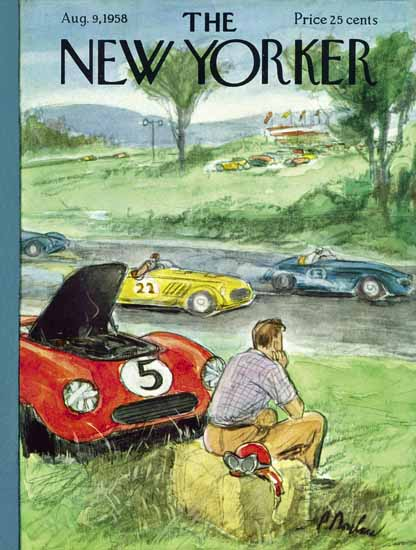 Perry Barlow The New Yorker 1958_08_09 Copyright | The New Yorker Graphic Art Covers 1946-1970