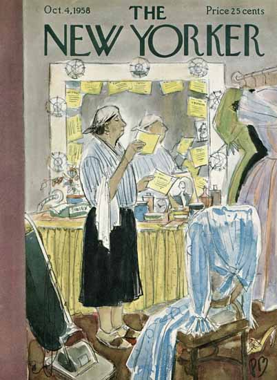 Perry Barlow The New Yorker 1958_10_04 Copyright | The New Yorker Graphic Art Covers 1946-1970