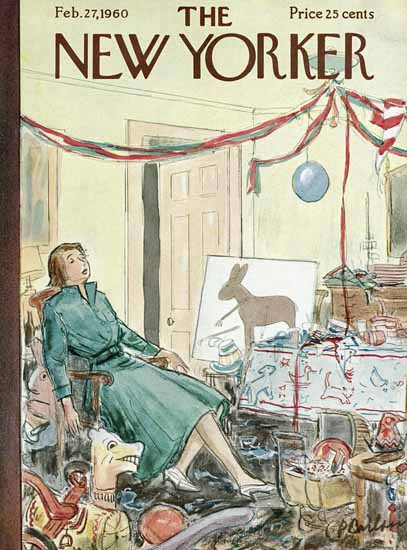 Perry Barlow The New Yorker 1960_02_27 Copyright | The New Yorker Graphic Art Covers 1946-1970
