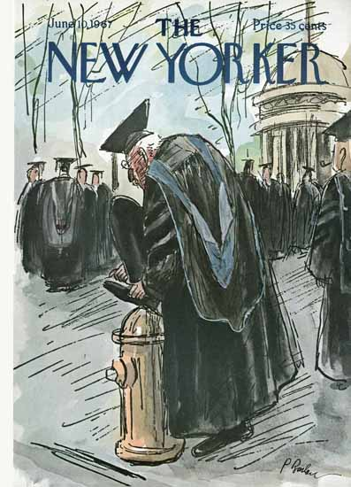 Perry Barlow The New Yorker 1967_06_10 Copyright | The New Yorker Graphic Art Covers 1946-1970
