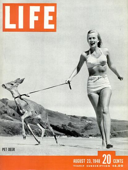 Pet Deer 23 Aug 1948 Copyright Life Magazine | Life Magazine BW Photo Covers 1936-1970