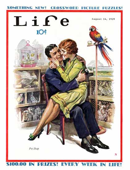 Pet Shop The Kiss Life Magazine 1929-08-16 Copyright Sex Appeal | Sex Appeal Vintage Ads and Covers 1891-1970