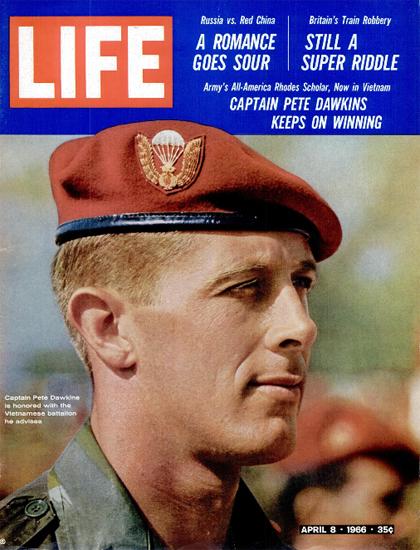 Pete Dawkins advises Vietnam Bat 8 Apr 1966 Copyright Life Magazine | Life Magazine Color Photo Covers 1937-1970