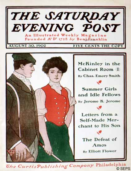 Pete Fountain Saturday Evening Post Cover 1902_08_30 | The Saturday Evening Post Graphic Art Covers 1892-1930