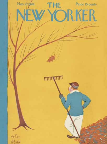 Peter Arno The New Yorker 1926_11_27 Copyright | The New Yorker Graphic Art Covers 1925-1945