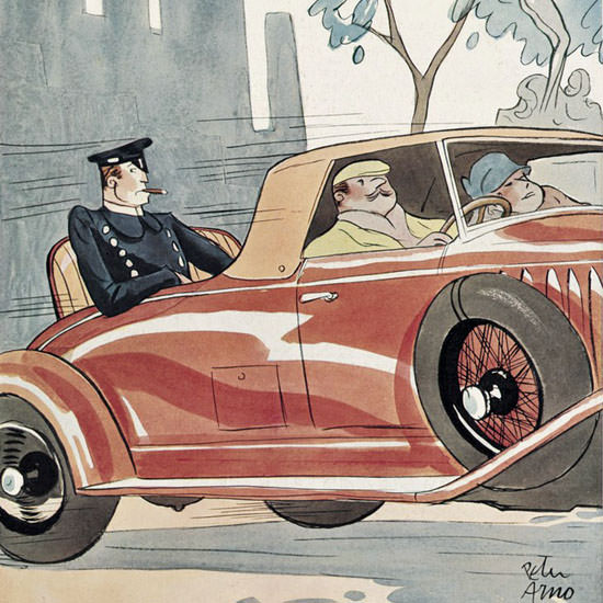 Peter Arno The New Yorker 1930_09_06 Copyright crop | Best of Vintage Cover Art 1900-1970