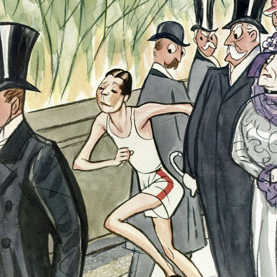 Peter Arno The New Yorker 1931_04_11 Copyright crop | Best of Vintage Cover Art 1900-1970