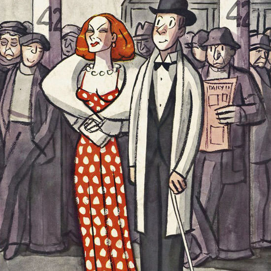 Peter Arno The New Yorker 1937_04_24 Copyright crop | Best of Vintage Cover Art 1900-1970