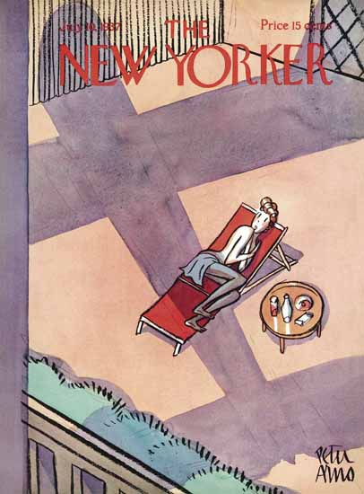 Peter Arno The New Yorker 1937_07_10 Copyright | The New Yorker Graphic Art Covers 1925-1945
