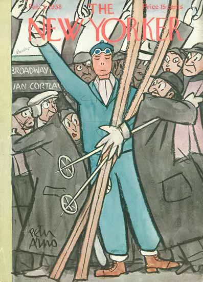 Peter Arno The New Yorker 1938_02_05 Copyright | The New Yorker Graphic Art Covers 1925-1945