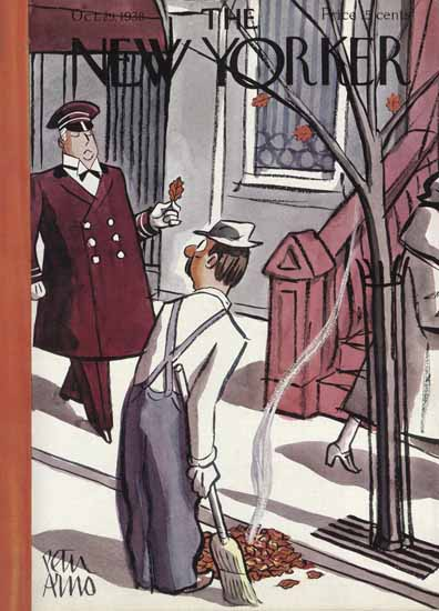 Peter Arno The New Yorker 1938_10_29 Copyright | The New Yorker Graphic Art Covers 1925-1945