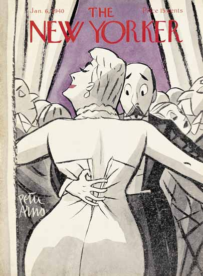 Peter Arno The New Yorker 1940_01_06 Copyright | The New Yorker Graphic Art Covers 1925-1945