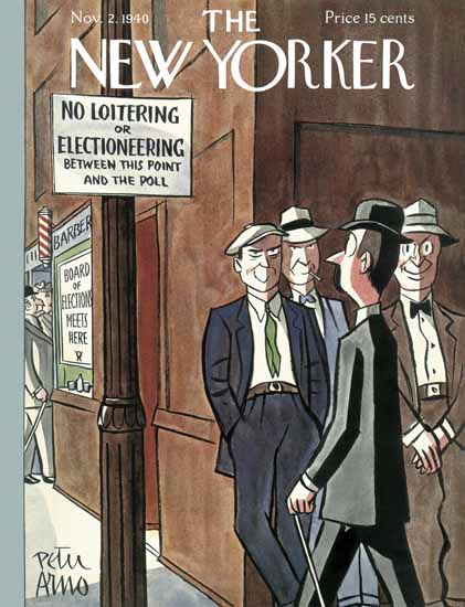 Peter Arno The New Yorker 1940_11_02 Copyright | The New Yorker Graphic Art Covers 1925-1945