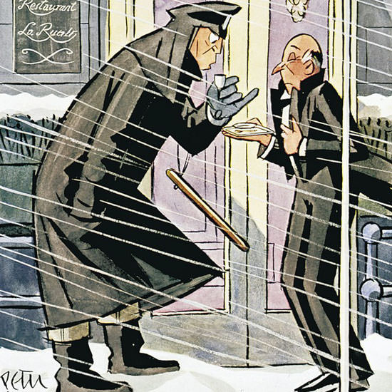Peter Arno The New Yorker 1941_02_01 Copyright crop | Best of Vintage Cover Art 1900-1970