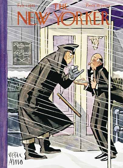 Peter Arno The New Yorker 1941_02_01 Copyright | The New Yorker Graphic Art Covers 1925-1945
