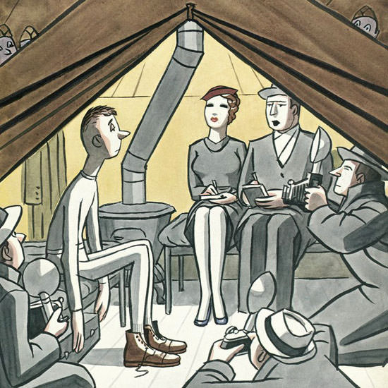 Peter Arno The New Yorker 1941_03_08 Copyright crop | Best of Vintage Cover Art 1900-1970