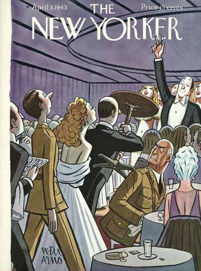 Peter Arno The New Yorker 1943_04_03 Copyright | The New Yorker Graphic Art Covers 1925-1945