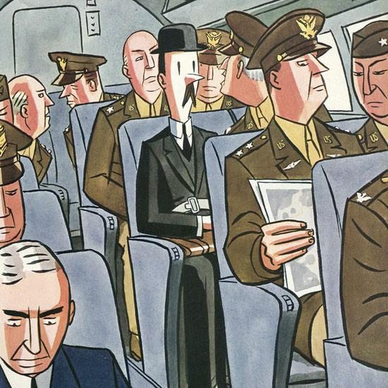 Peter Arno The New Yorker 1943_09_18 Copyright crop | Best of Vintage Cover Art 1900-1970